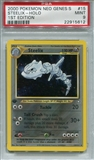Pokemon Neo Genesis Single Steelix 15/111 1st Edition - PSA 9 - *22915612*