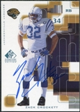1999 Upper Deck SP Signature Autographs #ZC Zack Crockett