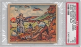 "1938 Gum Inc. Horrors of War #276 ""Spainish Raid Refugees Bury Their Dead"" PSA 5 (EX)"