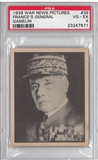 "1939 Gum Inc. Horrors of War #39 ""France's General Gamelin"" PSA 4 (VG-EX) *7671"