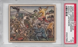 "1938 Gum Inc. Horrors of War #127 ""Spear-Armed Farmers Assault Japanese"" PSA 5 (EX)"