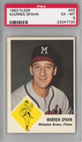 1963 Fleer Baseball #45 Warren Spahn PSA 6 (EX-MT) *7720