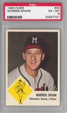 1963 Fleer Baseball #45 Warren Spahn PSA 6 (EX-MT) *7721