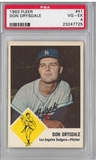 1963 Fleer Baseball #41 Don Drysdale PSA 4 (VG-EX) *7725