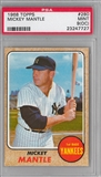 1968 Topps Baseball #280 Mickey Mantle PSA 9(OC) (MINT) *7727