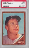 1962 Topps Baseball #200 Mickey Mantle PSA 4 (VG-EX) *7770