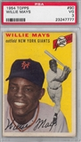 1954 Topps Baseball #90 Willie Mays PSA 3 (VG) *7777