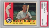 1960 Topps Baseball #350 Mickey Mantle PSA 3 (VG) *7782