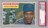 1956 Topps Baseball #15 Ernie Banks Gray Back PSA 3 (VG) *7787