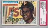 1956 Topps Baseball #33 Roberto Clemente Gray Back PSA 2 (GOOD) *7788