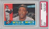 1960 Topps Baseball #200 Willie Mays PSA 2 (GOOD) *7793