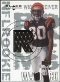 2000 Upper Deck Black Diamond #169 Peter Warrick RC Jersey