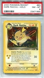 Pokemon Team Rocket Single Dark Raichu - PSA 8 *23471994*