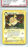 Pokemon Team Rocket Single Dark Raichu 1st Edition - PSA 9 *23471995*