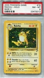 Pokemon Base Set 2 Single Raichu - PSA 8 *23472013*
