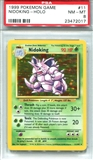 Pokemon Base Set 1 Single Nidoking - PSA 8 *23472017*