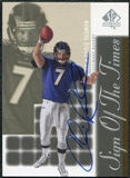 2000 Upper Deck SP Authentic Sign of the Times #RE Chris Redman Autograph