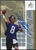 2000 Upper Deck SP Authentic Sign of the Times #TD Trent Dilfer Autograph