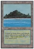 Magic the Gathering Unlimited Single Tropical Island - MODERATE PLAY (MP)