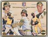 1992 Upper Deck Oakland A's 25th Anniversary Commemorative Sheet Rare Sample