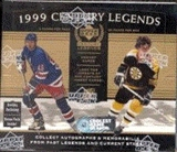 1999/00 Upper Deck Century Legends Hockey Hobby Box