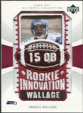 2003 Upper Deck UD Patch Collection #128 Seneca Wallace RC