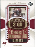 2003 Upper Deck UD Patch Collection Gold Patches #122 Chris Simms RC /25
