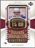2003 Upper Deck UD Patch Collection Gold Patches #124 Kliff Kingsbury RC /25