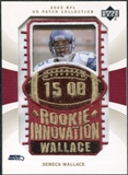 2003 Upper Deck UD Patch Collection Gold Patches #128 Seneca Wallace RC /25