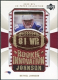 2003 Upper Deck UD Patch Collection Gold Patches #145 Bethel Johnson RC /25
