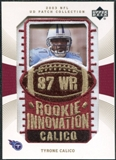 2003 Upper Deck UD Patch Collection Gold Patches #146 Tyrone Calico RC /25