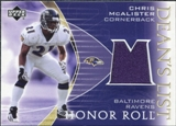 2003 Upper Deck Honor Roll Dean's List Jersey #DLCM Chris McAlister
