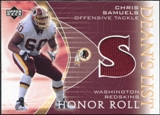 2003 Upper Deck Honor Roll Dean's List Jersey #DLCS Chris Samuels