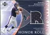 2003 Upper Deck Honor Roll Dean's List Jersey #DLDR Dave Ragone