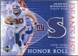 2003 Upper Deck Honor Roll Dean's List Jersey #DLSH Jeremy Shockey