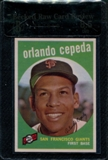 1959 Topps Baseball #390 Orlando Cepeda Beckett Raw Card Review 8.5 *7810