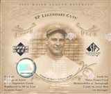 2005 Upper Deck SP Legendary Cuts Baseball Hobby Box