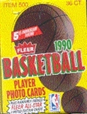 1990/91 Fleer Basketball Wax Box
