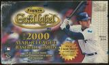 2000 Topps Gold Label Baseball Retail 24 Pack Box