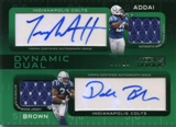 2009 Topps Unique Dual Jerseys Autographs #AB Joseph Addai Donald Brown 10/10