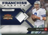 2010 Panini Threads Franchise Fabrics Prime Jersey #18 Tony Romo /15