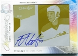 2009/10 The Cup Printing Plates OPC Premier Yellow #95 Matthew Corrente 1/1 Autograph