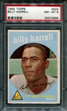 1959 Topps Baseball #433 Billy Harrell PSA 8 (NM-MT) *2696