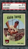 1959 Topps Baseball #414 Dale Long PSA 8 (NM-MT) *4855