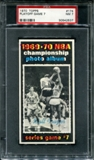 1970/71 Topps Basketball #174 Playoff Game 7 - Walt Frazier PSA 7 (NM) *2537