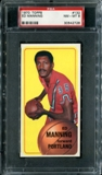 1970/71 Topps Basketball #132 Ed Manning PSA 8 (NM-MT) *2728