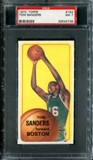 1970/71 Topps Basketball #163 Tom Sanders PSA 7 (NM) *2738
