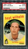 1959 Topps Baseball #349 Hoyt Wilhelm PSA 8 (NM-MT) *4426