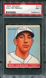 1933 Goudey Baseball #177 Walter French PSA 7 (NM) *4431