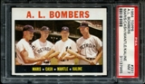 1964 Topps Baseball #331 A.L. Bombers (Mantle) PSA 7 (NM) *7965